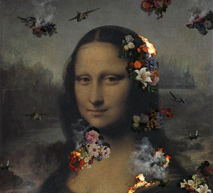 "Lee Leenam, Ruins Mona Lisa (2013 - 65"" LED TV - 5 min 40 sec)"