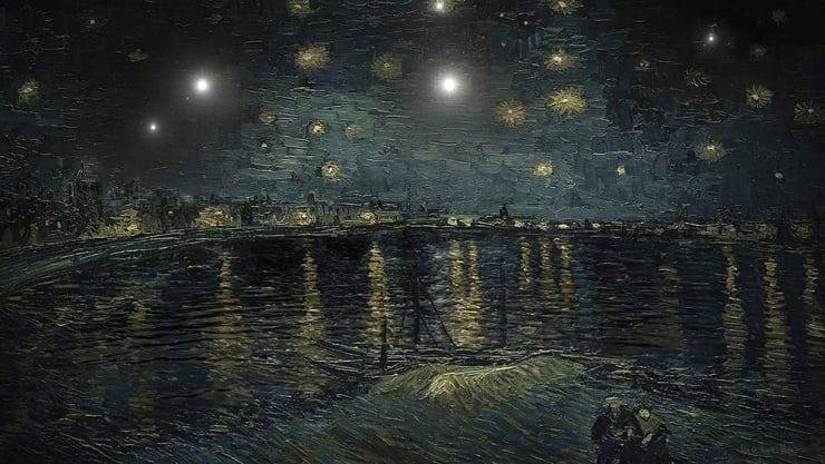 "Lee Leenam, Gogh - The Starry Night, Arles (2016 - 55"" LED TV - 7 min 30 sec)"