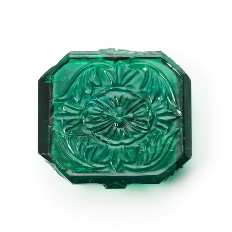 84 Carat Carved Emerald