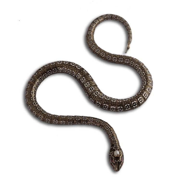 19Th Century Serpent Necklace 3