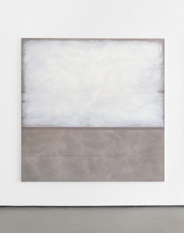 Richard Höglund Enthusiasm V, 2019 tin, lead, titanium, safflower oil, acrylic emulsions, marble pulver, and wine on canvas 89 x 89 in. / 226 x 266 cm