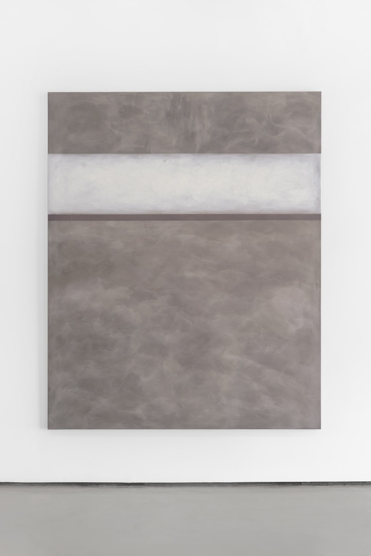 Richard Höglund Procession, 2019 gold, silver, tin, lead, titanium, safflower oil, acrylic emulsions, marble pulver, and wine on canvas 89 x 72 in / 226 x 183 cm
