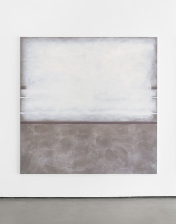 Richard Höglund Enthusiasm II, 2019 gold, silver, tin, lead, titanium, safflower oil, acrylic emulsions, marble pulver and wine on canvas 89 x 89 in / 226 x 226 cm