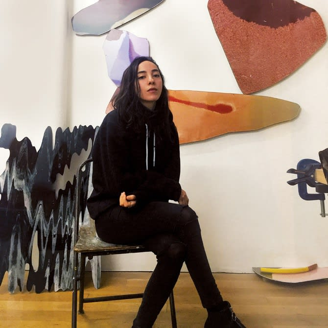 Sara Naim at the The Third Line gallery in Dubai. (Supplied photo)