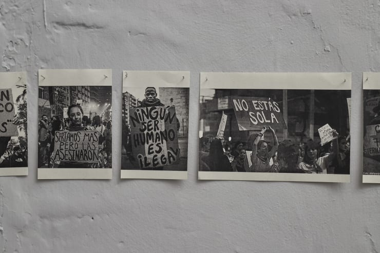 Exhibition view. Dejo este cuerpo aquí, Vigil Gonzales galería (2020).