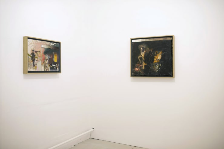 Left: Henry Coombes, Magic Towards Your Face - Positivity Negativity, 2010, Mixed media on canvas Right: Henry Coombes, Magic Towards Your Face - Baby Grand, 2010, Mixed media on canvas