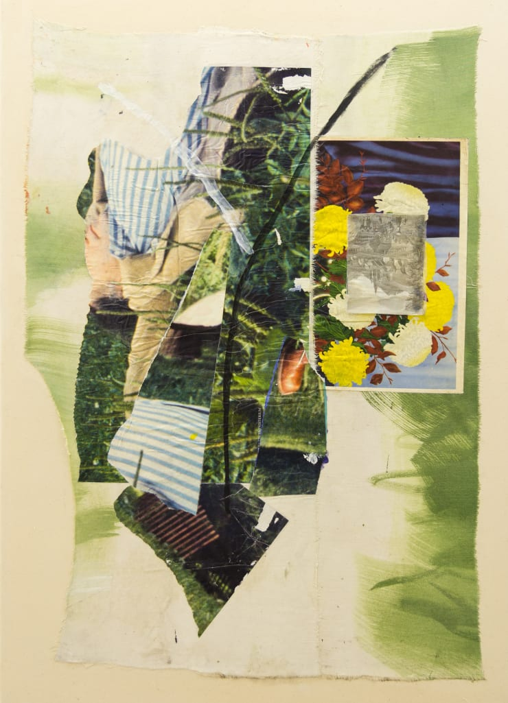 Hugo Canoilas, From to its body: the soul returning, 2013 Collage on canvas 103 x 65 cm 40 1/2 x 25 5/8 in