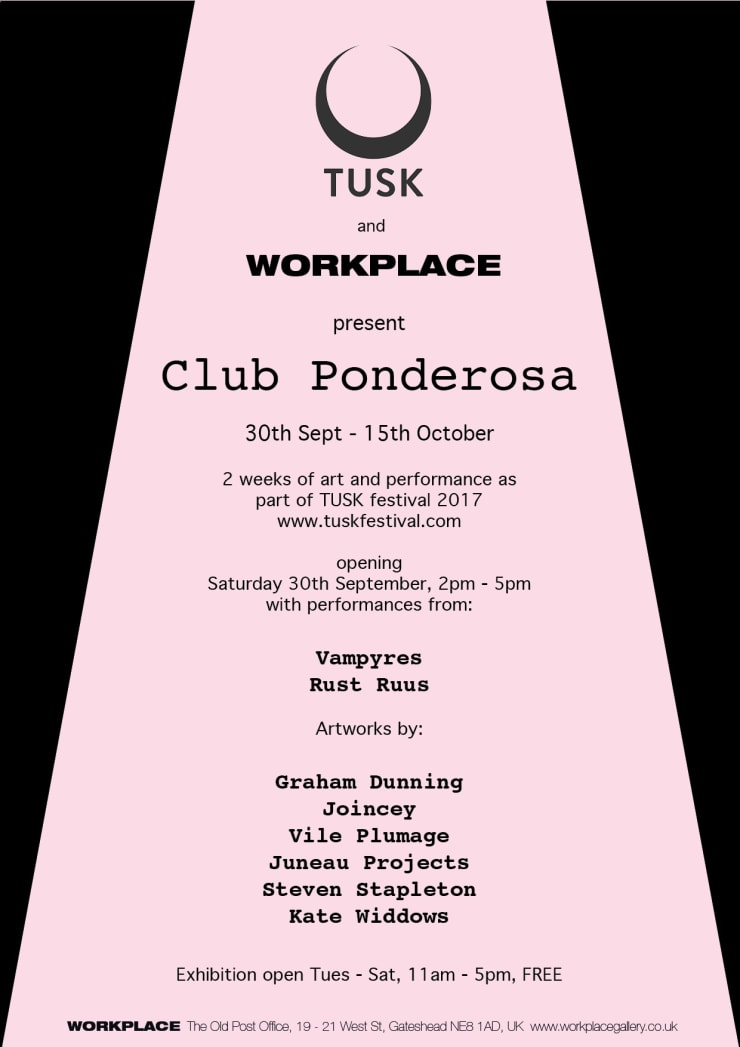 Event: TUSK and WORKPLACE present CLUB PONDEROSA