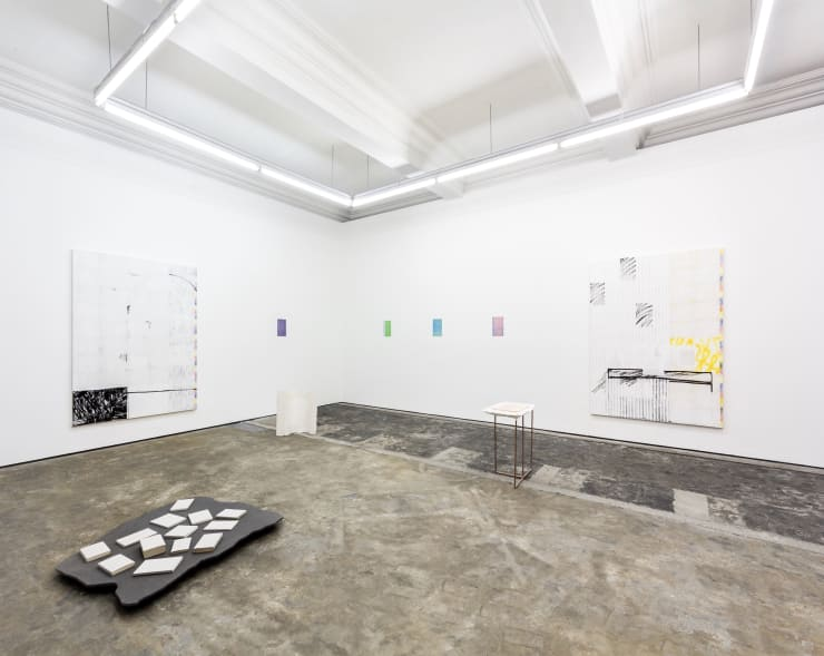 Touche, Éclat 21st October - 16 December, 2018 Installation view at Workplace Foundation, Gateshead Photography: Miles Thurlow