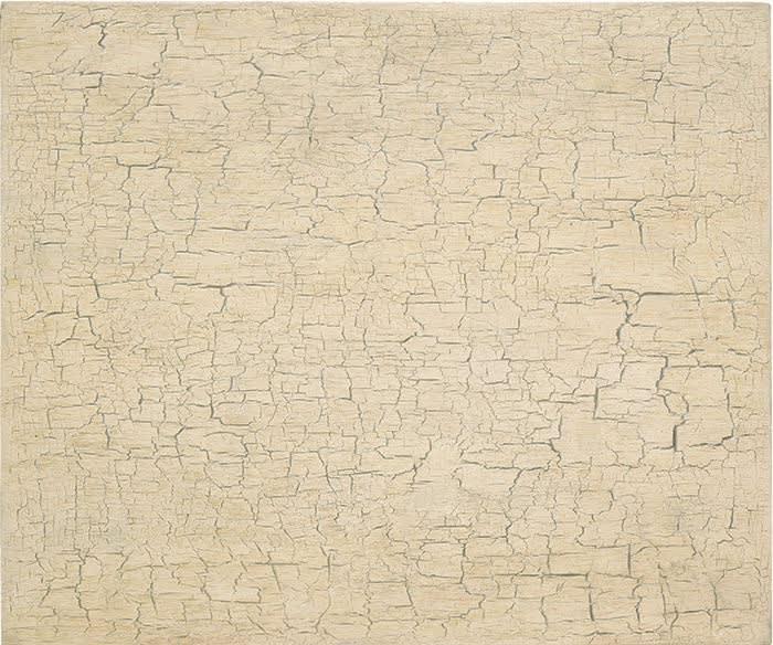 Vija Celmins's Desert Surface #1, 1991. (Courtesy of the Met Breuer)