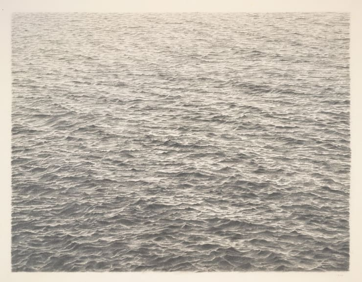 Vija Celmins's 'Untitled (Ocean)' (1977) PHOTO: VIJA CELMINS/DON ROSS/SAN FRANCISCO MUSEUM OF MODERN ART
