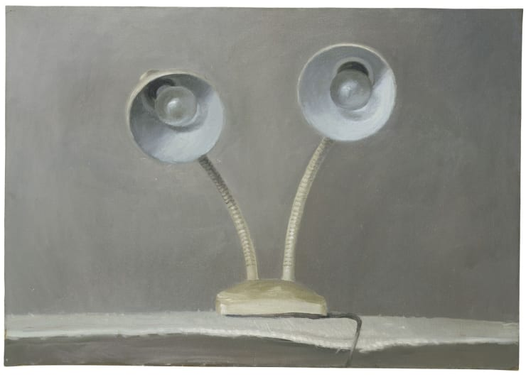 Vija Celmins, Lamp #1, 1964. Oil on canvas. Copyright Vija Celmins, courtesy the artist and Matthew Marks Gallery, photo by Sarah Wells