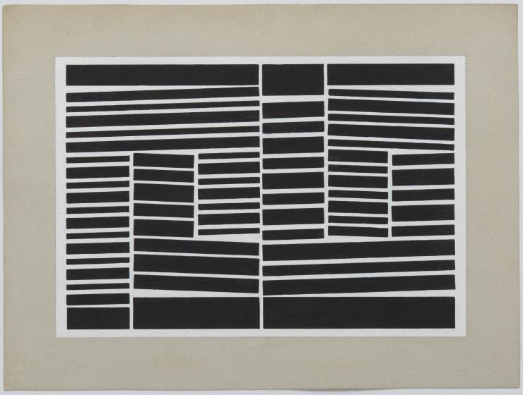 Obra 'Metaesquema 189' (1958), do artista brasileiro Hélio Oiticica. Foto: EFE/Zeit Contemporary Art