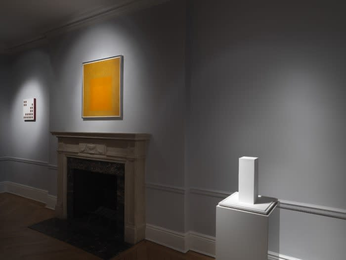Minimal Means: Concrete Inventions in the US, Brazil and Spain. Installation view with works by Lygia Pape, Josef Albers and Sol LeWitt.