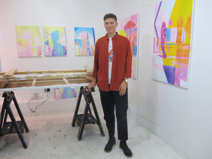 Zoe Walsh in their studio. Courtesy of the artist and Zeit Contemporary Art, New York