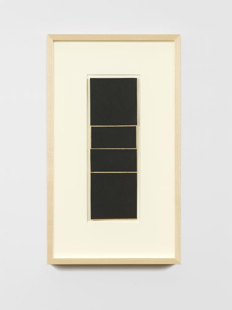 Lygia Clark. Estudo para Espaço Modulado (Study for Modulated Space), 1958. Collage, card 11 5/8 x 3 13/16 inches (29.6 x 9.8 cm). Image courtesy of Zeit Contemporary Art, New York