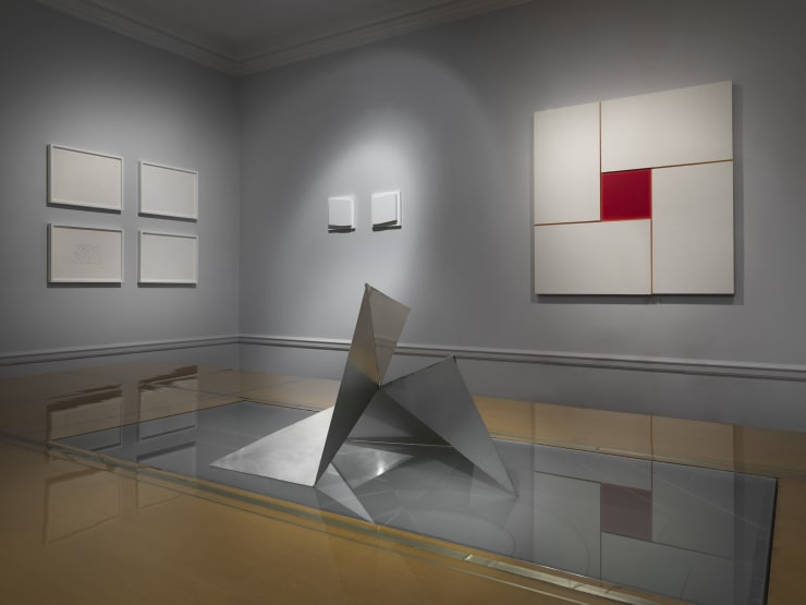 Works by Lygia Clark, Elena Asins and Jose Maria Yturralde in the exhibition Minimal Means. Image courtesy of Zeit Contemporary Art, New York