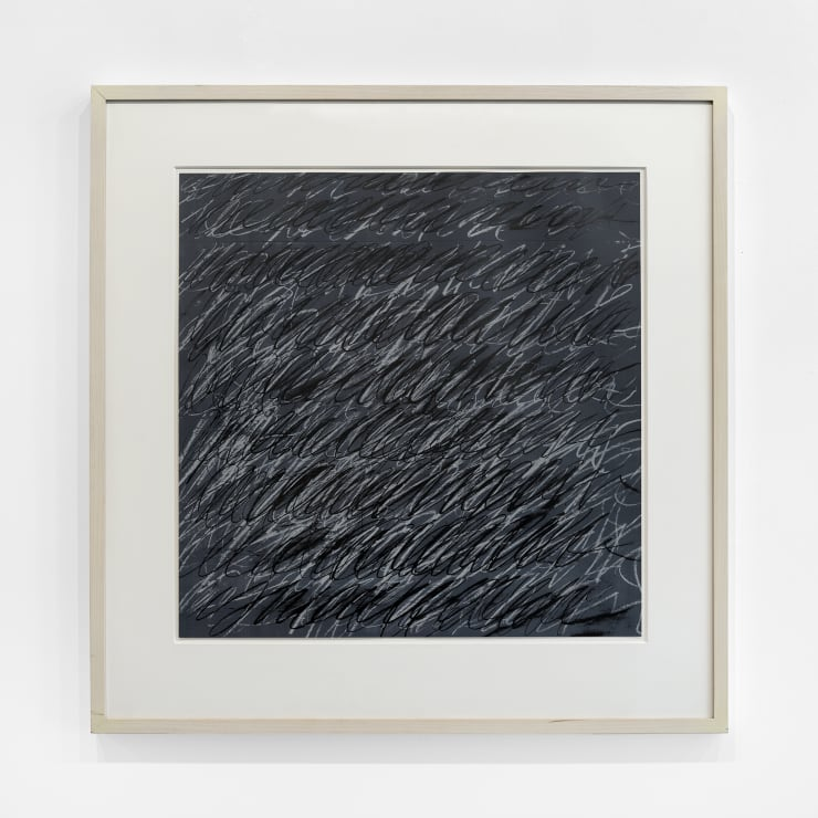 Cy Twombly  Untitled (from on The Bowery), 1969-71  silkscreen, Sérigraphie couleurs, papier parole Schollers, white wood molding with matte, linen hinged with UV Plexi  Frame Dimensions: 35 x 35 x 1.5 in. / 89 x 89 x 3.8 cm  Image Dimensions: 25 x 25 in. / 63.5 x 63.5 cm  Ed. of 100