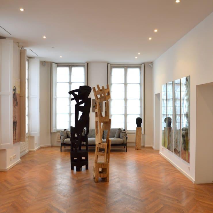 Vue du showroom de la galerie à Paris, 2018