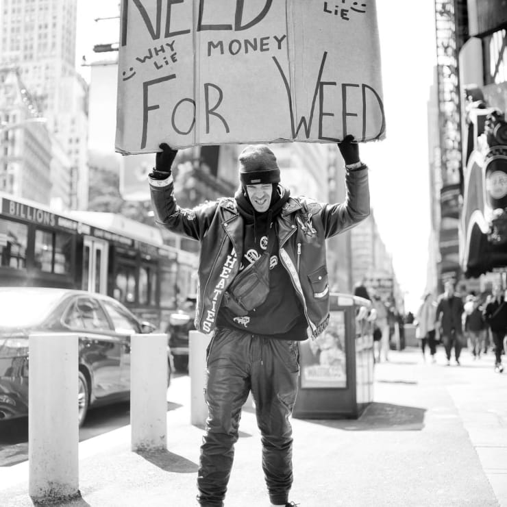 Money for Weed! Times Square