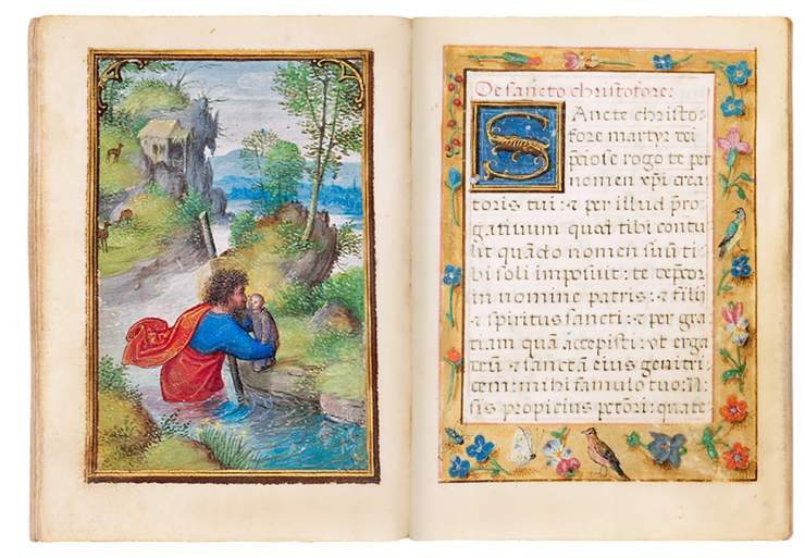 Miniature Book of Hours, use of Rome, in Latin