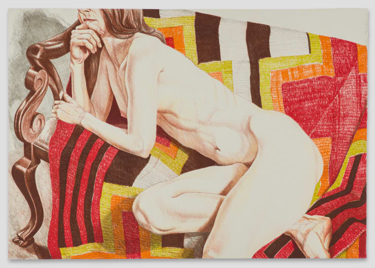 Philip Pearlstein, Nude With Chief's Blanket, 1978