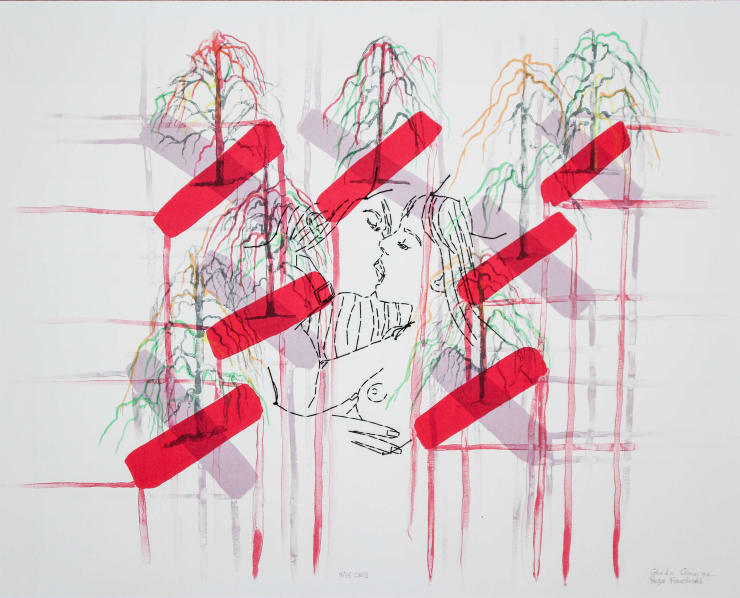 Ghada Amer and Reza Farkhondeh., Kiss Cross, 2006