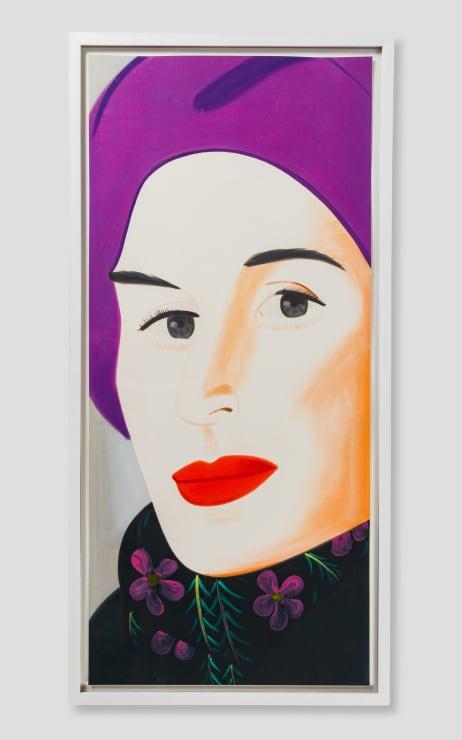 Alex Katz, Purple Hat (Ada), 2017