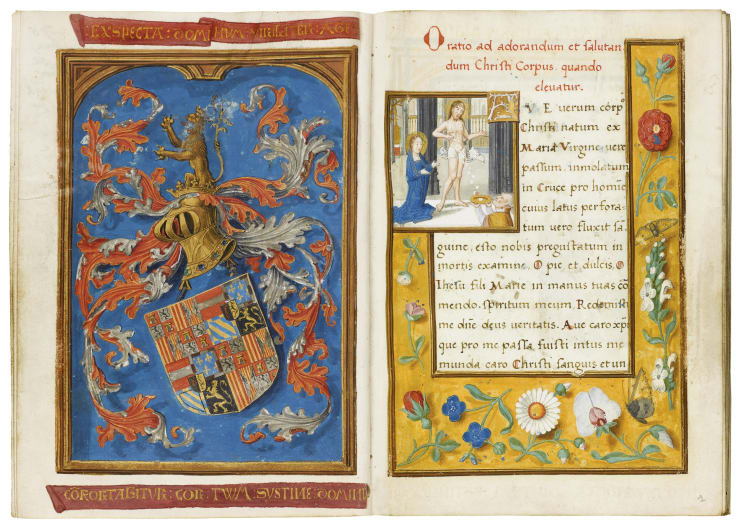 Prayer book for the young Charles V – with his pre-imperial arms