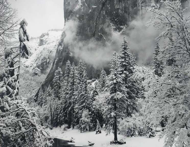 Ansel Adams - El Capitan, Yosemite Valley, CA, Winter
