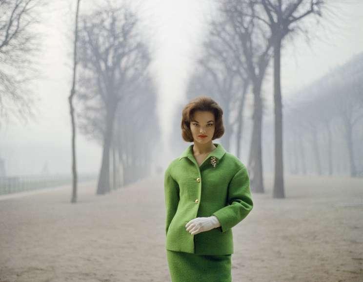 Mark Shaw - Henrietta Tiarks Among the Trees, Crahay for Ricci, Paris
