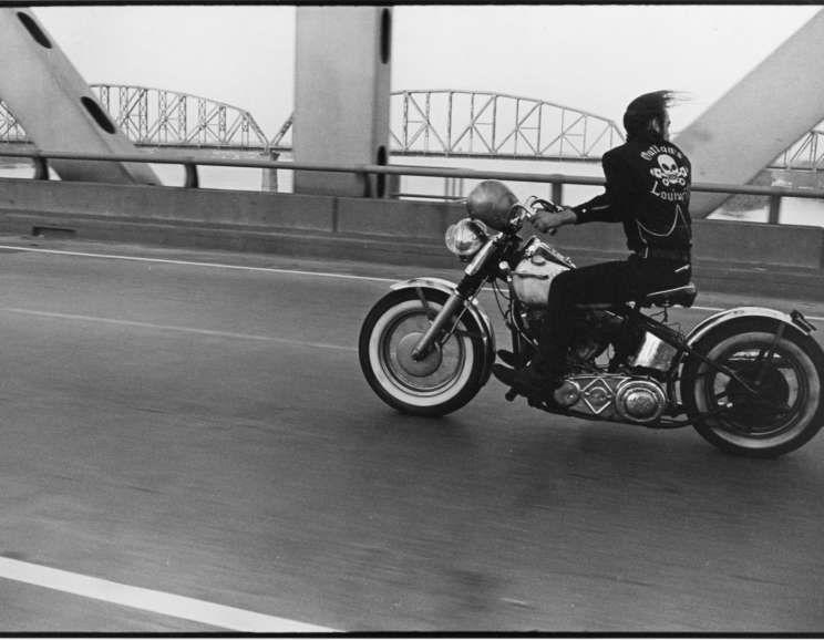 Danny Lyon - Crossing the Ohio, Louisville, The Bikeriders Portfolio