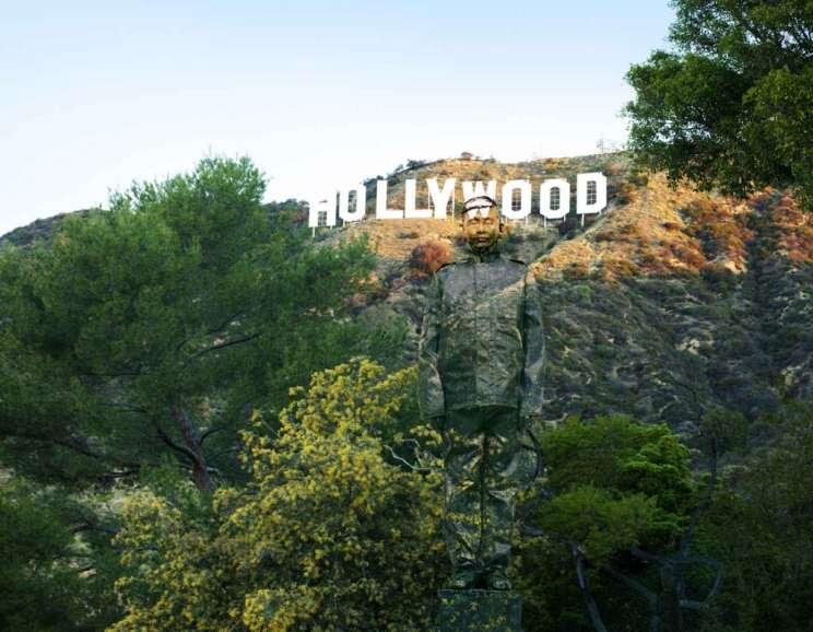 Liu Bolin - Hiding in California No. 2, Hollywood