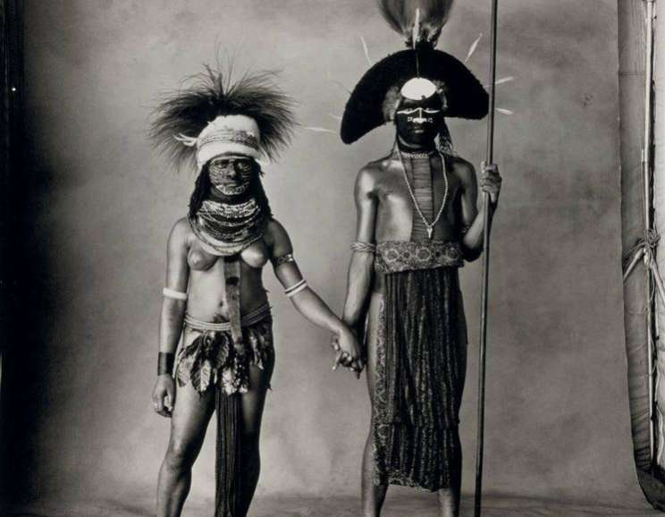 Irving Penn - Young Enga Couple, New Guinea