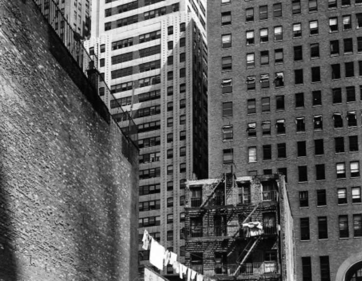 Berenice Abbott - Construction Old and New (38 Greenwich Street from 37 Washington Street)