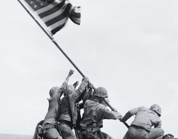 Joe Rosenthal - Marines of the 28th Regiment of the 5th Division Raise the American Flag Atop Mt. Suribachi, Iwo Jima (#32279)