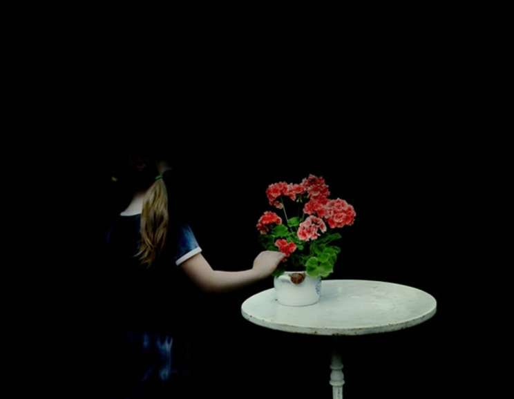 Julia Peirone - Girl with Pelargonium