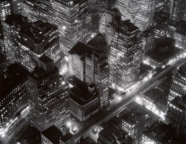 Berenice Abbott - Nightview, New York at Night, Empire State Building