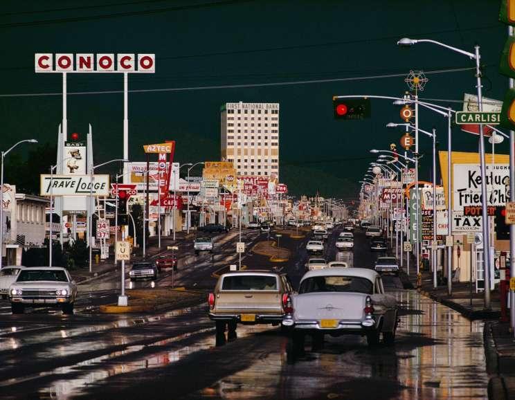 Ernst Haas - Route 66 Albuquerque, New Mexico