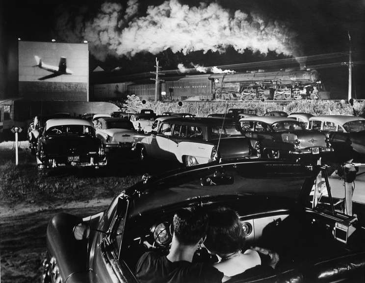 O. Winston Link - Hot Shot Eastbound at the Drive-In, Iaeger, West Virginia