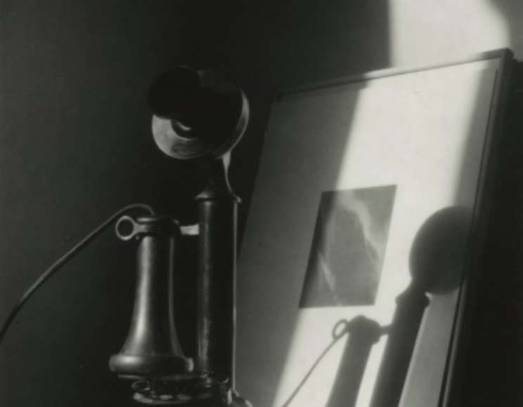 Dorothy Norman - An American Place - 1930s, Phone, Shadow, Stieglitz Equivålent in Background