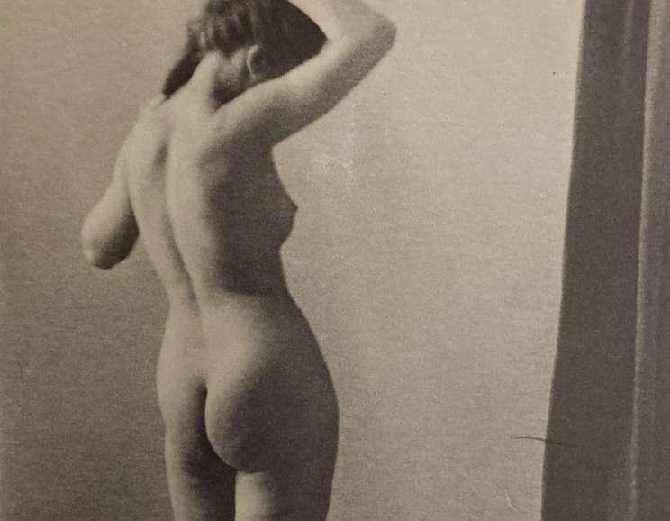 Paul Outerbridge, Jr. - Standing Figure (Nude Standing with Drape)