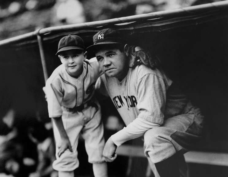 George Brace - Babe Ruth with White Sox Bat Boy