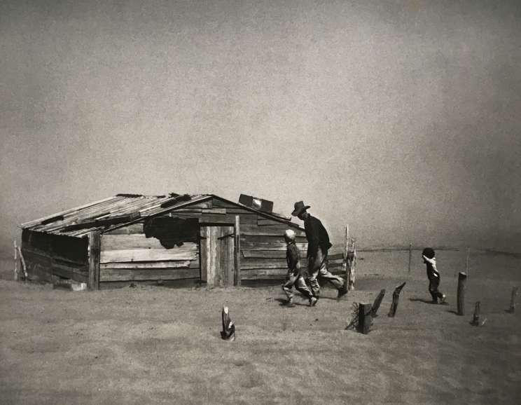 Arthur Rothstein - Eroded land on tenant's farm. Walker County, Alabama