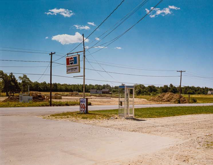 Stephen Shore - US 1, Arundel, Main, July 17