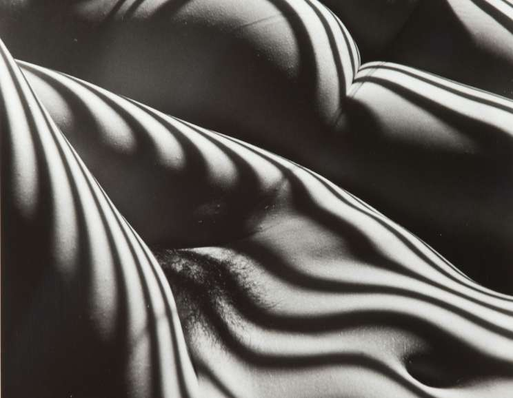 Lucien Clergue - Two Zebra Nudes (Deux Nus Zèbres), New York