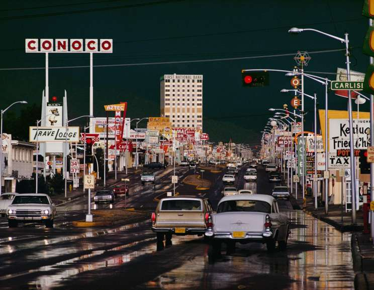 Ernst Haas - Route 66 Albuquerque, New Mexico
