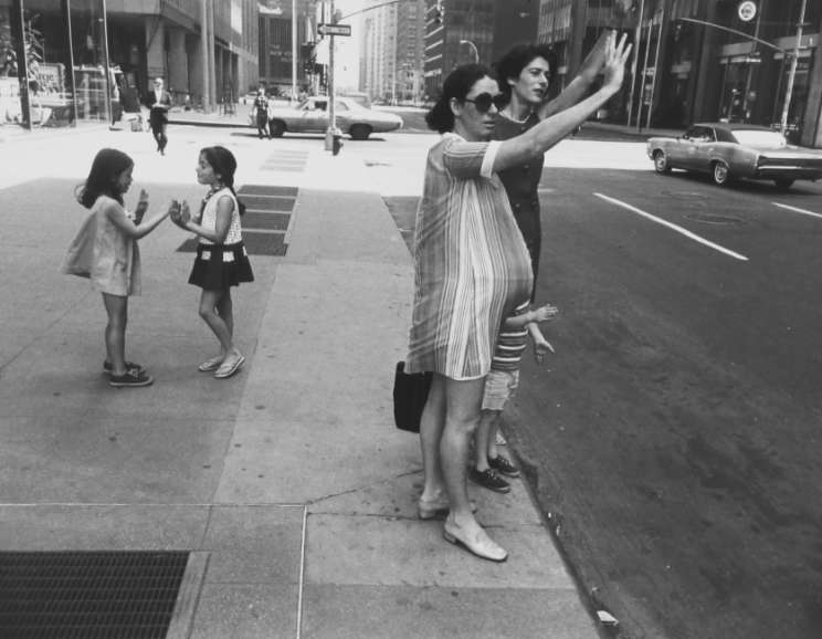 Garry Winogrand - New York City (man's hand, monkey in window, children) Garry Winogrand Portfolio, Hyperion Press, 1978
