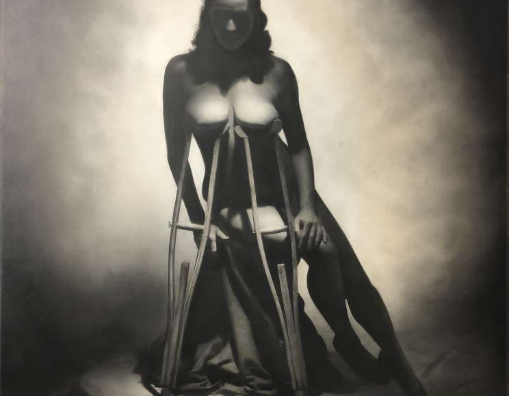 Rocky Schenck - Nude with Crutches