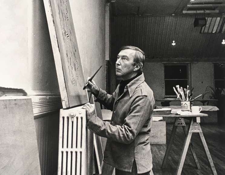Hans Namuth - Jasper Johns at Simca Print Artists, New York